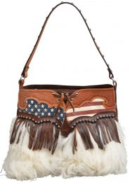 American Flag Print Woolly Chaps All American Cowgirl Purse