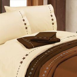 Western Star Embroidered Sheet Set