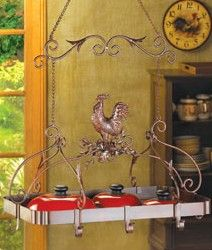 Rooster Kitchen Pot Rack