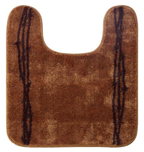 Bathroom Barbwire Contour Rug In Rustic Brown